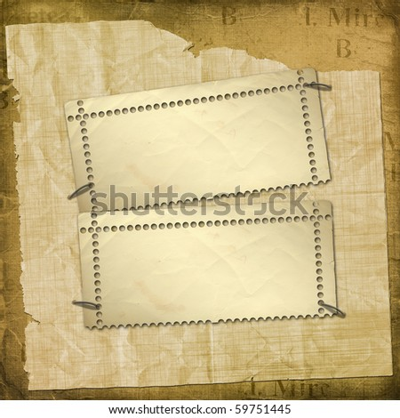 Alienated gold paper for announcement on the abstract background