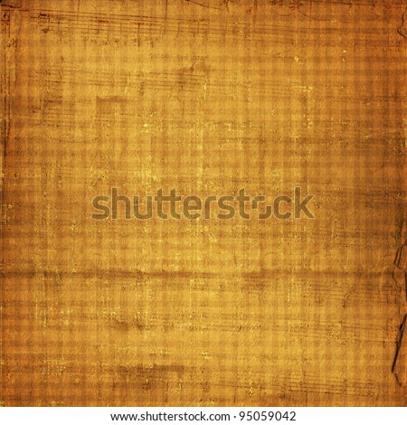 Alienated used paper background  with gold ornamental for announcement - stock photo