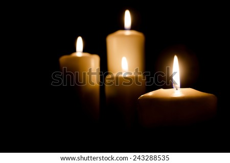 Alight candles