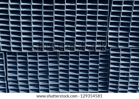 Aligned rectangular metal - stock photo
