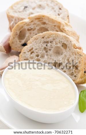 Alioli with Bread - stock photo