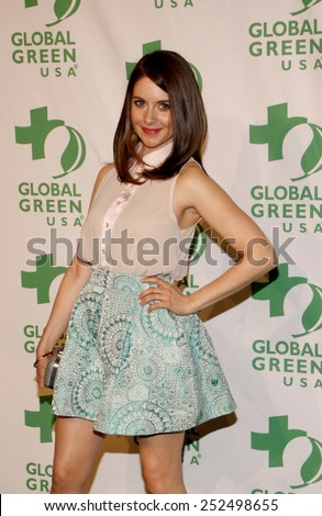 Alison Brie at the Global Green USA's 9th Annual Pre-Oscar Party held at the Avalon Hollywood, California, United States on February 22, 2012.  - stock photo