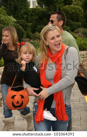 Alison Sweeney and children at the Pottery Barn Kids Halloween Carnival Benfiting Operation Smile, Private Location, Los Angeles, CA. 10-23-10