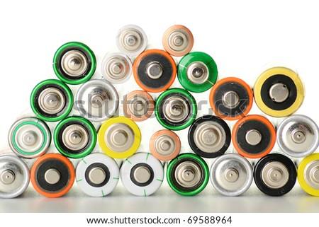 Alkaline batteries - stock photo