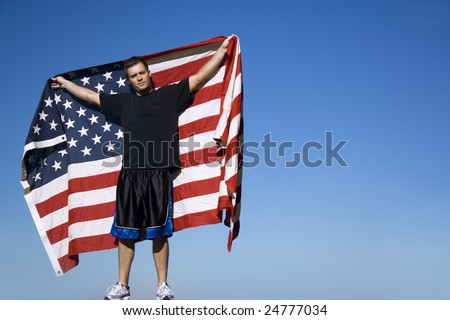 All-American Man - stock photo