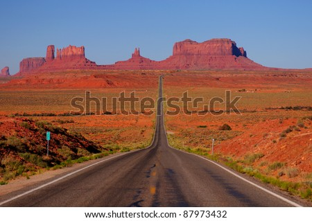 All American Road - stock photo