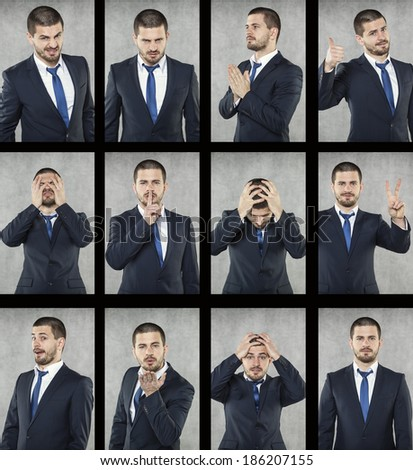 all emotions - stock photo