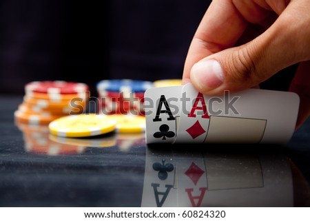 All in! - stock photo