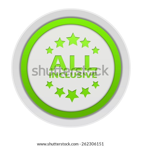 All inclusive circular icon on white background