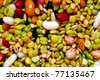 All kind of beans and legumes mix - stock photo