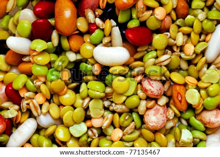 All kind of beans and legumes mix