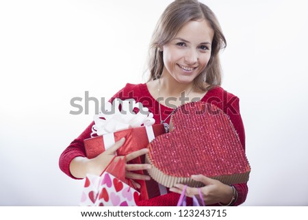 All kinds of gifts for valentine's day - stock photo