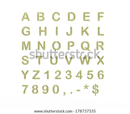 all letters of the alphabet in shiny numbers