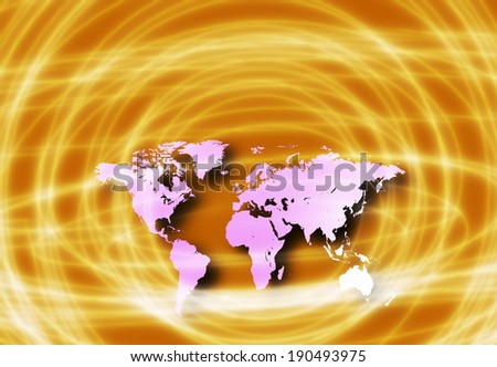All of earth's continents - stock photo
