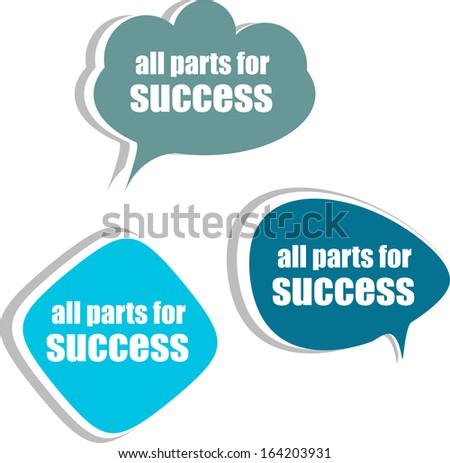 all parts for success. Set of stickers, labels, tags. Business banners, Template for infographics