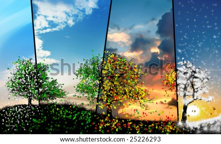 all seasons - stock photo