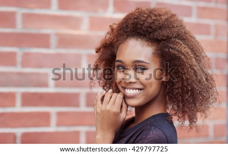 All smiles in the city - stock photo