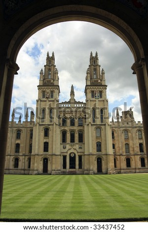 All Souls College, oxford - stock photo