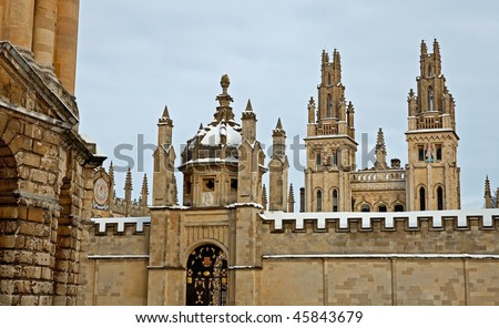 All Souls College 1438, Oxford - stock photo