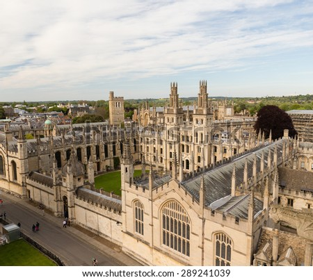 All Souls College. Oxford, UK