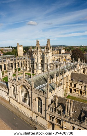 All Souls College, Oxford University. Oxford, UK - stock photo