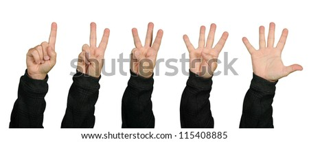 All the fingers on one hand count one two three four five