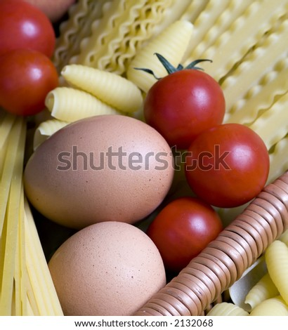 All the makings for a good pasta - stock photo