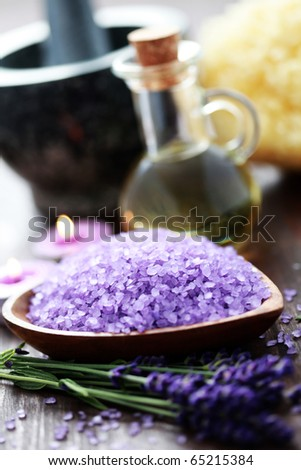 all you ned to have great spa - beauty treatment - stock photo