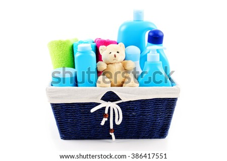 all you need for baby -  baby accessories - children - stock photo