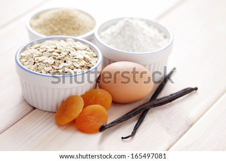 all you need to bake cookies or cake - food and drink - stock photo