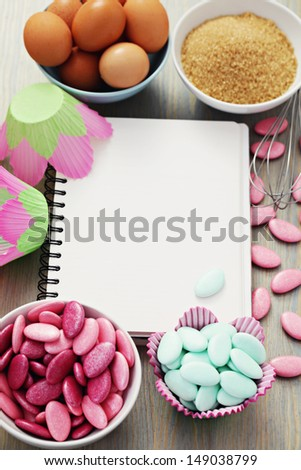 all you need to baking muffins - sweet food - stock photo