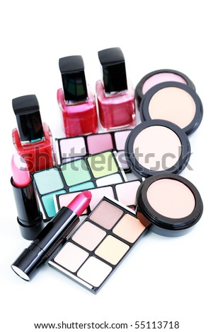 all you need to have perfect make -up - beauty treatment - stock photo