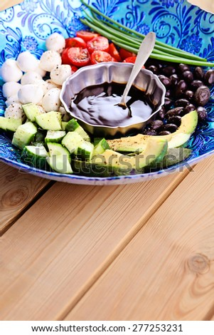 all you need to make delicious salad - food and drink - stock photo