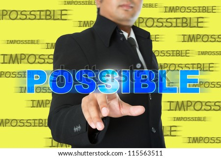 All you things are possible - stock photo