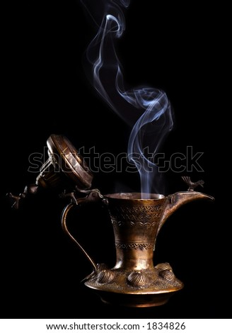 Alladin`s lamp - stock photo