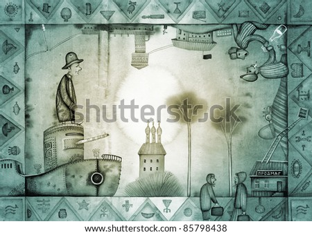 Allegory of the Russian dictatorship - stock photo