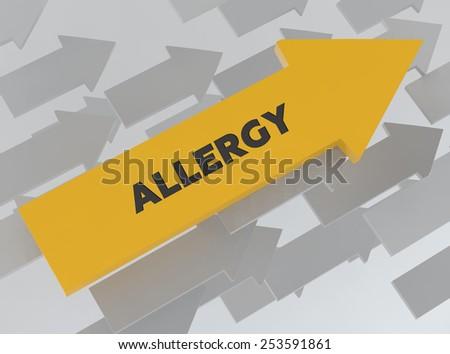 ALLERGY - stock photo