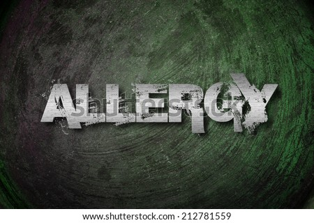 Allergy Concept text - stock photo