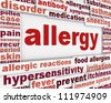 Allergy message background. Hypersensitivity poster conceptual design - stock vector