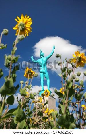 Allerton park - singer statue - stock photo