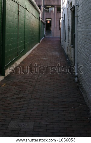 Alley - stock photo