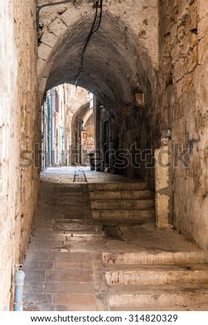 Alley in an old city