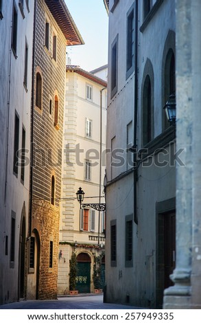 Alley in Florence, Tuscany,Italy - stock photo
