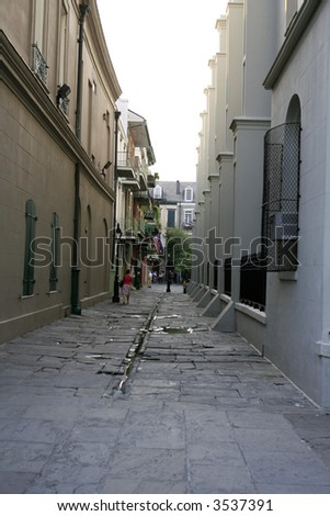 Alley in New Orleans French Quarter - stock photo