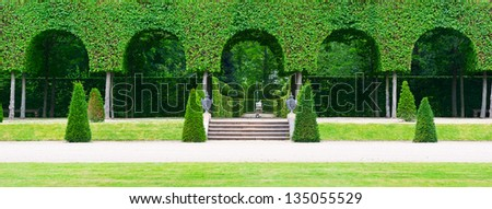 alley in the park - stock photo