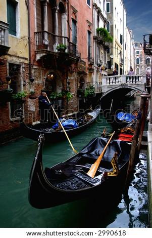 alley in Venice - stock photo