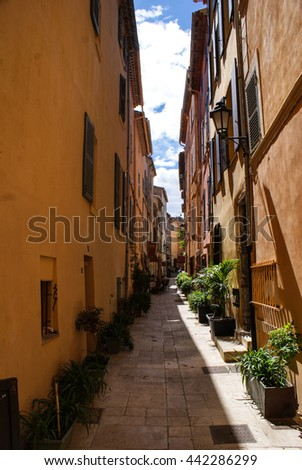 Alley South of France - stock photo