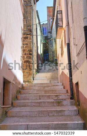 Alleyway. Biccari. Puglia. Italy. - stock photo