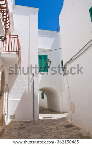 Alleyway. Fasano. Puglia. Italy.  - stock photo
