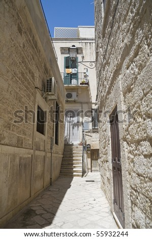 Alleyway. Giovinazzo. Apulia. - stock photo